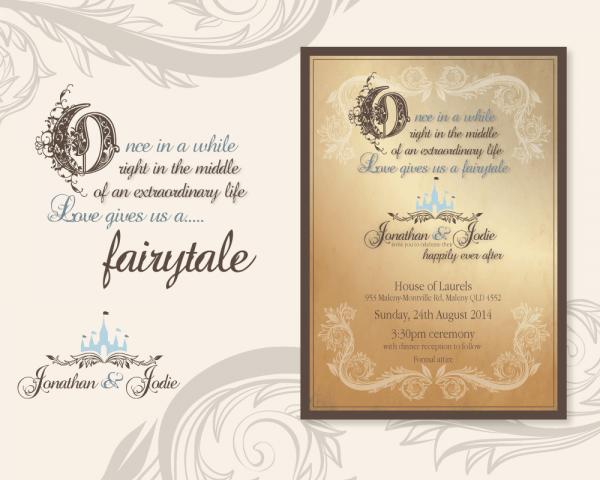 Wedding Invitation Template Fairytale Wedding Invitations Wedding