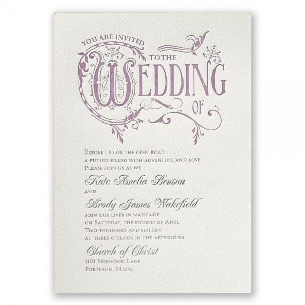 Fairytale Wedding Invitations Fairytale Wedding Invitations With