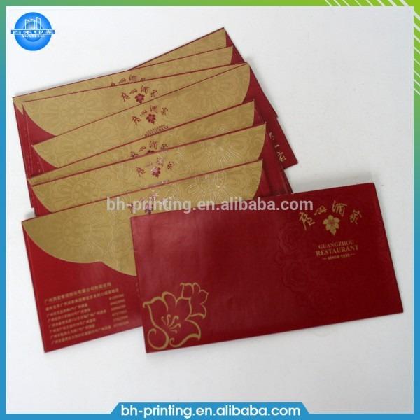 Fancy Envelope Design Printing Wedding Invitation A5 Card Printing