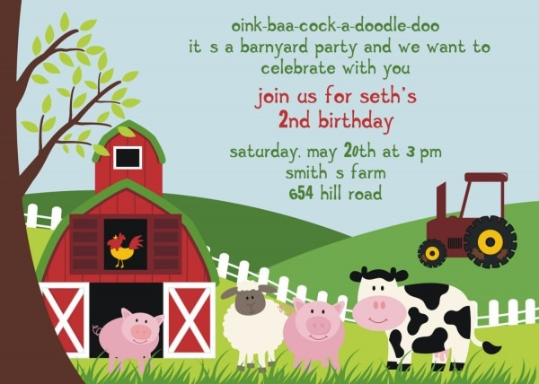Farm Animal Birthday Clipart Collection