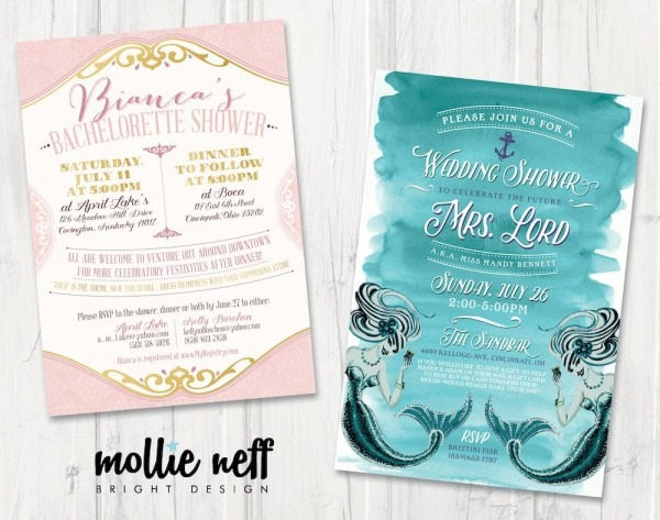 Bridal Shower And Bachelorette Party Invitations For Any Theme