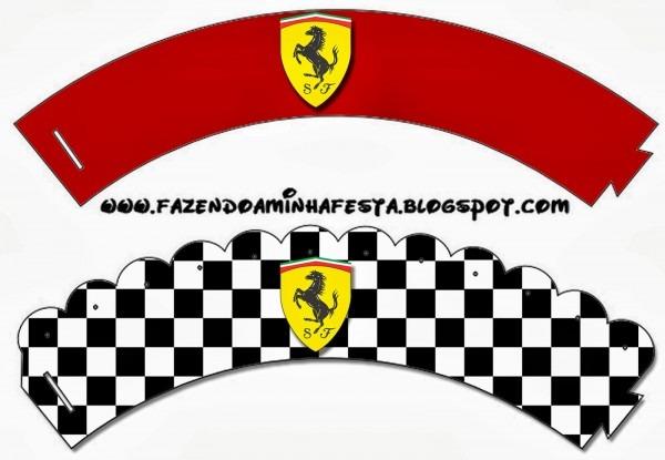 Ferrari  Free Printable Candy Bar Labels