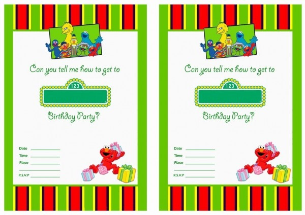 Ffbcdcdf Superb Sesame Street Birthday Invitations Template