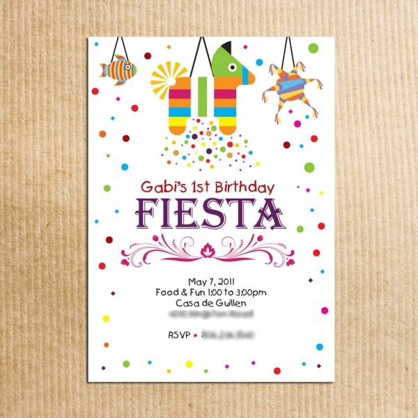 Fiesta Party Invitations Fiesta Party Invitations As A Result Of