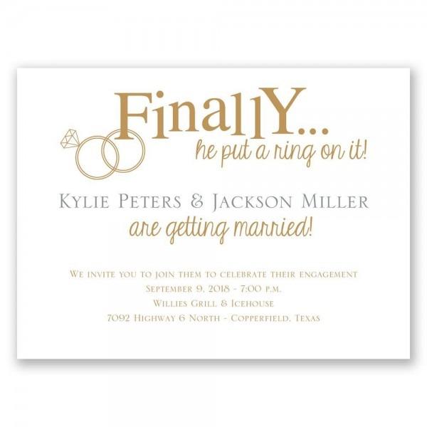 Finally Engagement Celebration Card