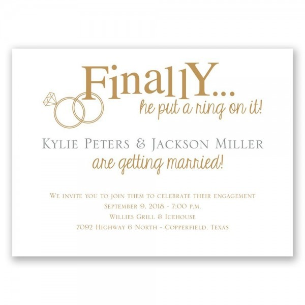 Finally Petite Engagement Luxury Engagement Party Invitation