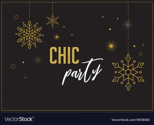 Fireworks Chic Party Invitation Design Royalty Free Vector