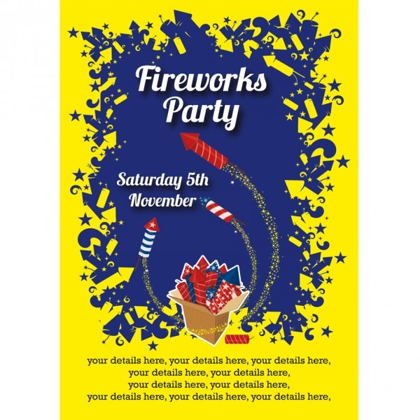 Fireworks Party Invitation From Buzzinvites Combined With Your