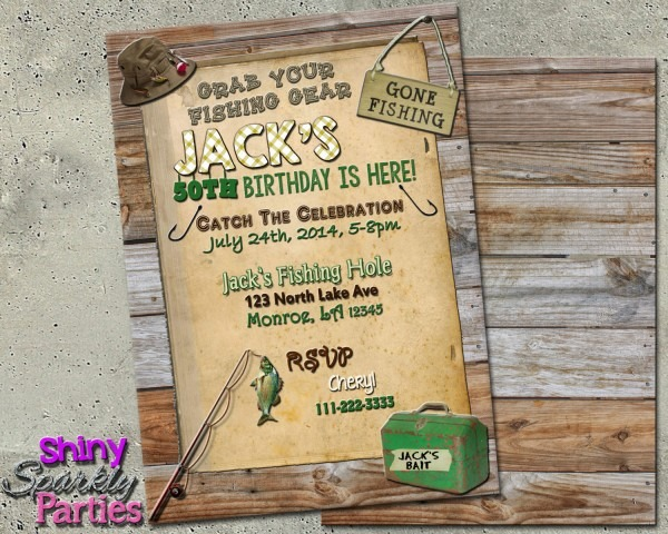 Fishing Birthday Party Best Fishing Birthday Invitations