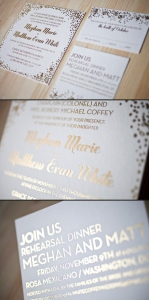 Foil Stamped Wedding Invitations Foil Stamped Wedding Invitations