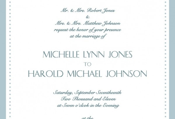 Formal Wedding Invitation Wording Throughout Keyword Card Design