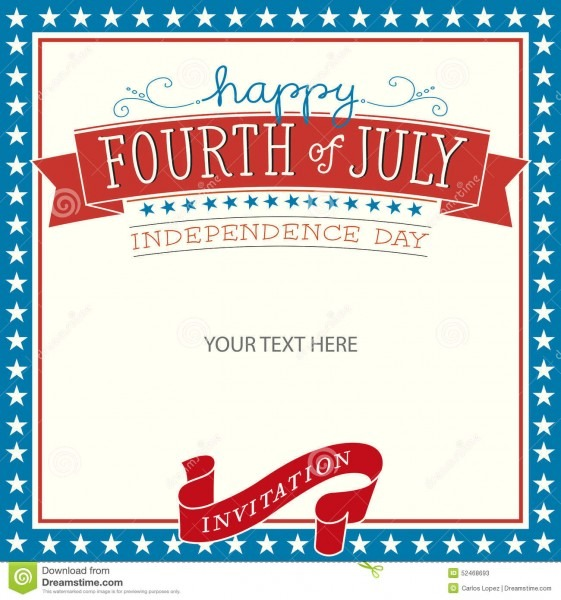 Fourth Of July Invitation Stock Vector  Illustration Of America