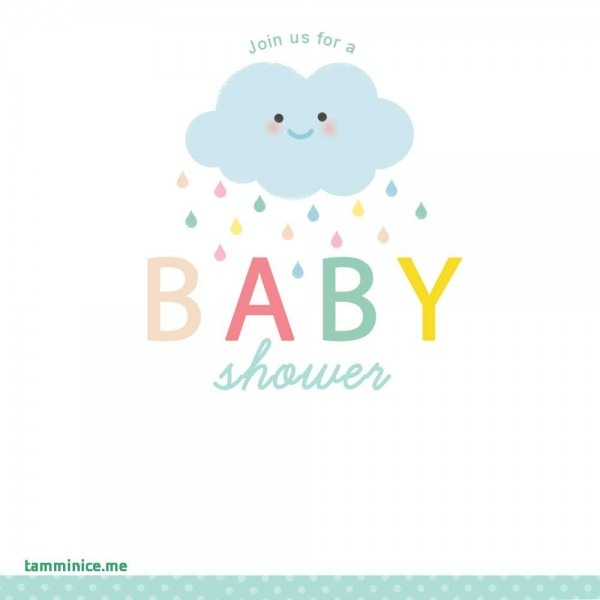 Free Baby Shower Clipart For Invitations Unique Shower Cloud Free