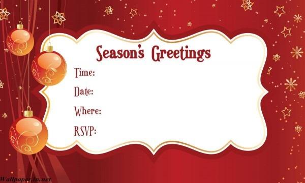 Blank Holiday Invitations Blank Christmas Card Or Invitation