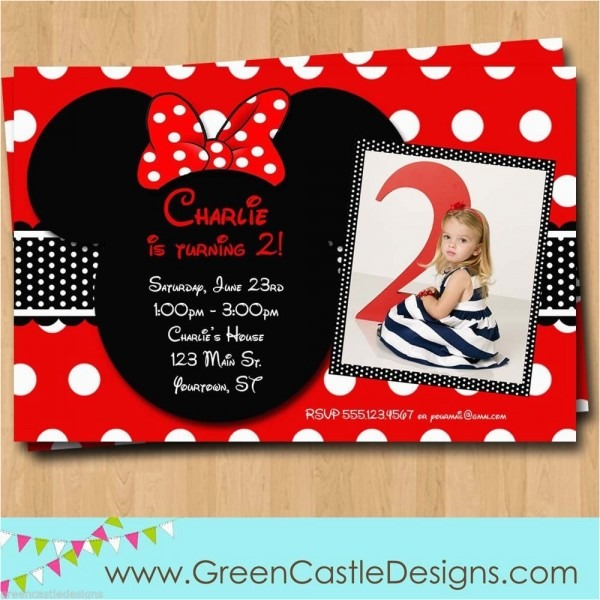 Free Customizable Minnie Mouse Birthday Invitations