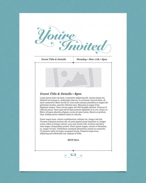 Free Email Invitation Template