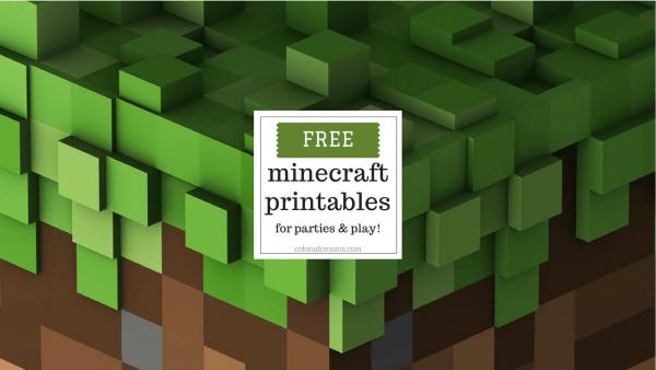 Free Minecraft Printables For Parties And Play – Coloradomoms Com