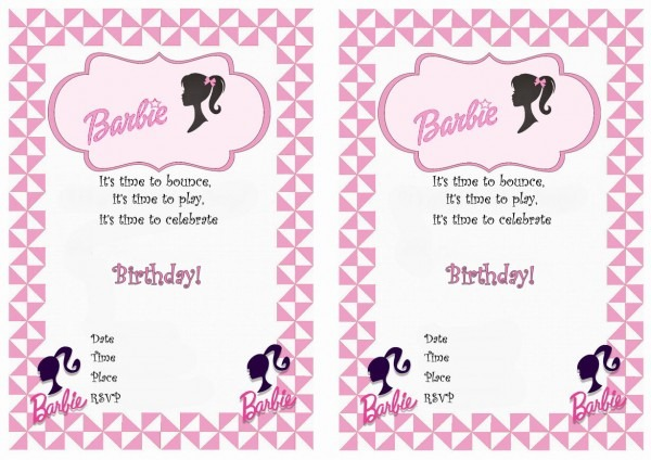 25 Images Of Barbie Invitations Free Template