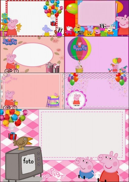 Peppa Pig  Free Printable Invitations, Labels Or Cards