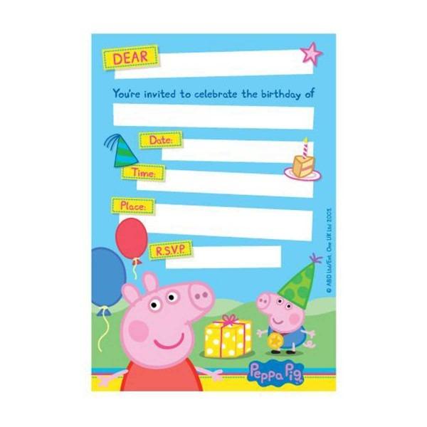 Fresh Peppa Pig Birthday Invitations
