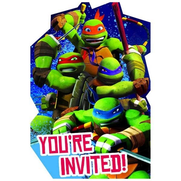 Fresh Tmnt Birthday Invitations