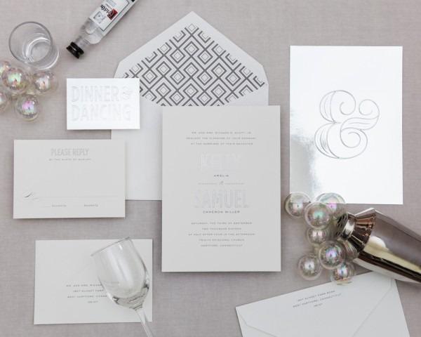 Ampersand Series  Modern Wedding Invitation