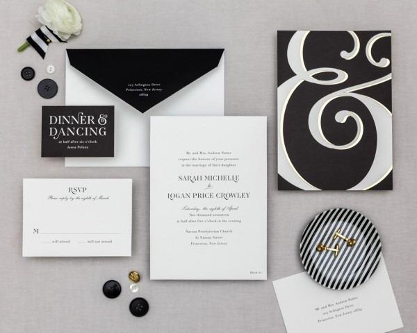 Ampersand Series  Classic Wedding Invitation