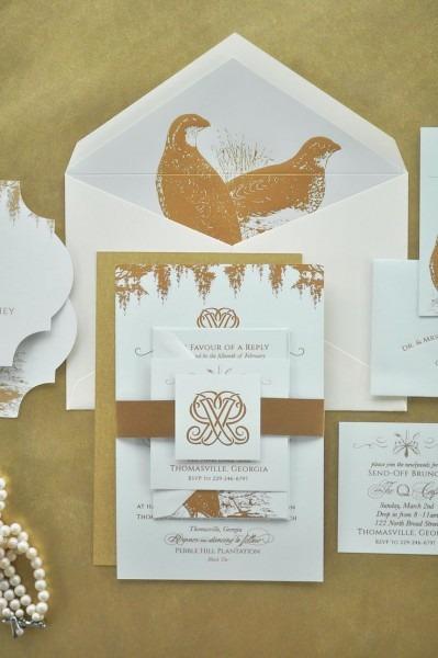 Garden And Gun Themed Wedding Invitations Mint Paper St Louis