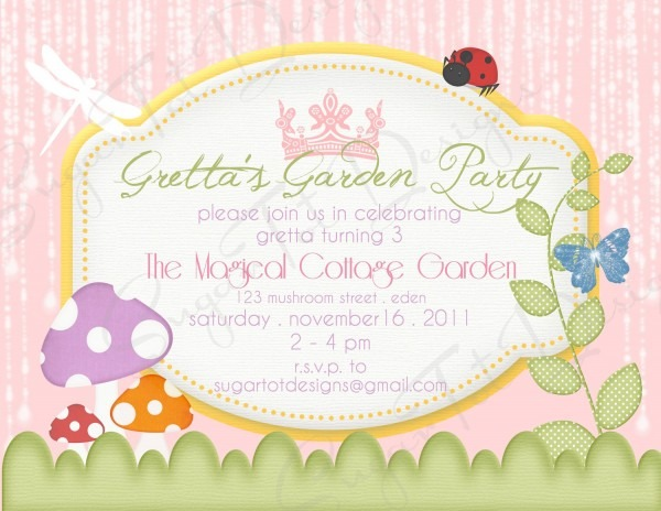 Garden Party Invitation Ideas