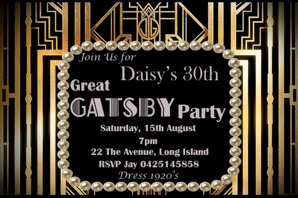 Gatsby Party Spectacular Great Gatsby Party Invitation Wording