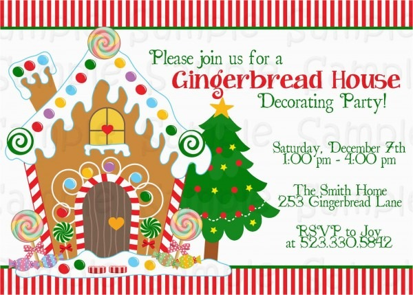 Gingerbread House Birthday Invitations Gingerbread House