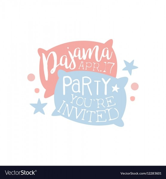Slumber, Party & Invite Vector Images (55)