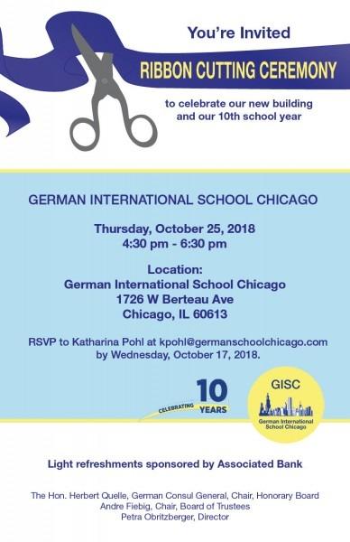 Invitation  Gisc Ribbon Cutting Ceremony » German International