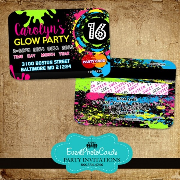 Glow Party Sweet 16