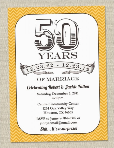 Golden Birthday Invitation Wording Golden Wedding Anniversary