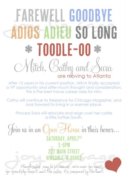 Goodbye Invitations Great Farewell Party Invitation Wording For
