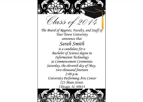 Template  Graduation Announcement Template