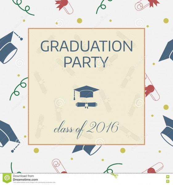 Graduation Celebrating Invitation Or Postcard Stock Vector