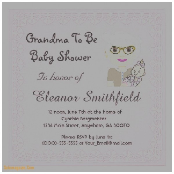 Stylish Grandma Baby Shower