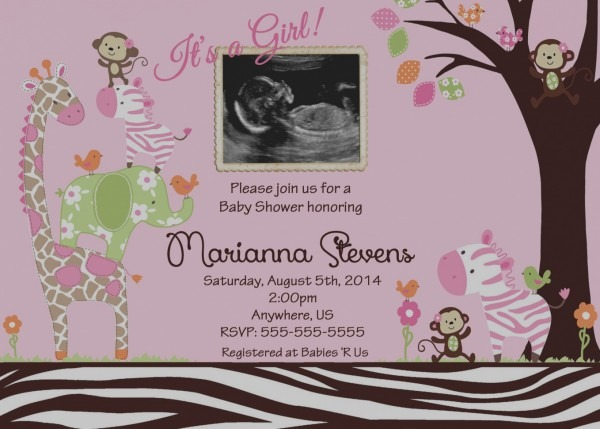 Beautiful Baby Shower Invitations With Ultrasound Picture Baby