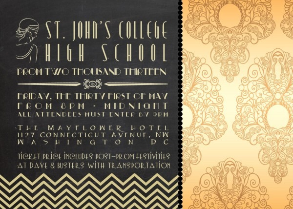 Great Gatsby Party Invitations Great Gatsby Party Invitations In