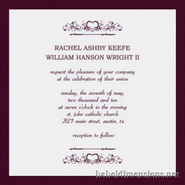 Great Wedding Invitation Format Invitation Format For Wedding