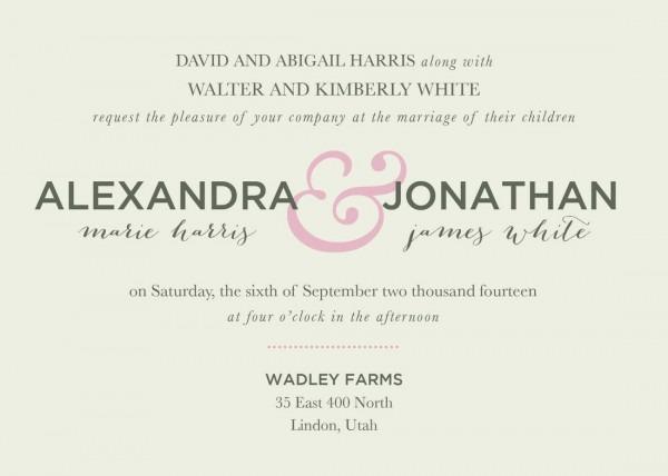 Great Wedding Invitation Wording Wedding Invitation Wording