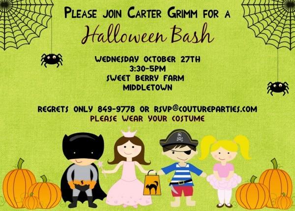 Halloween Birthday Party Invitations Halloween Birthday Party