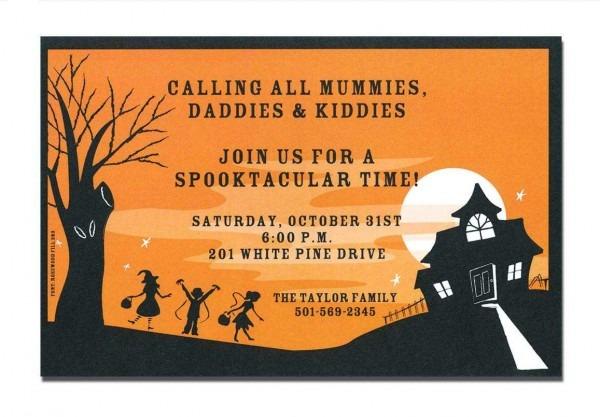 Halloween House Fall Nice Free Halloween Invitation Templates