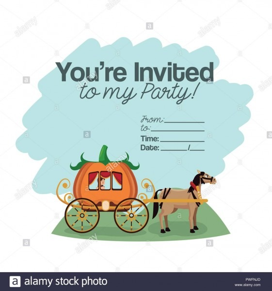 Halloween Kids Party Invitation Card With Cute Cartoons Vector