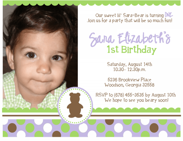 Rd Birthday Party Invitation Wording Samples First Words W Simple