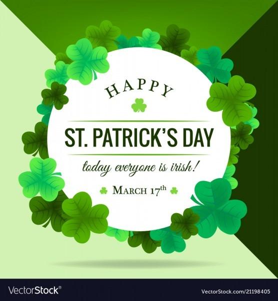 Happy St Patricks Day Invitation Wallpaper Vector Image