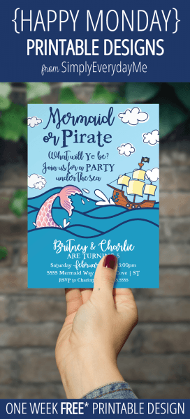 Simplyeverydayme  {happy Monday} Mermaid & Pirate Party