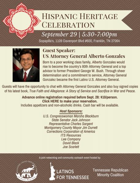 Celebrate Hispanic Heritage Month With Alberto Gonzales On Sept